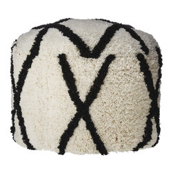 Nate Berkus Moroccan Shag Pouf - This pouf reminds me of the popular Moroccan shag rugs, but on a smaller scale. I love the black and white color palette too.