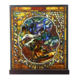 Summit - Tiffany Winter Stained Glass - This gorgeous Tiffany Winter Stained Glass has the finest details and highest quality you will find anywhere! Tiffany Winter Stained Glass is truly remarkable.