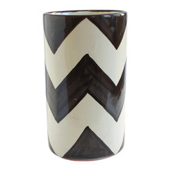 Black ZigZag Wine Bottle Holder