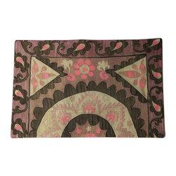 "Metrohouse Designs - ""Consigned"" Vintage Embroidered Suzani Pillow. Circa 1932 - Vintage Embroidered Suzani Pillow. Circa 1932"