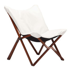 Zuo Modern - Draper Occasional Chair, White - Draper Occasonal Chair
