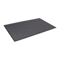 Crown - Crown Oxford Elite Wiper/Scraper Mat, 48 x 72, Black/Gray - Beautifully designed a combination of performance and appearance like no other wiper! An elegant solution for a good first impression. This high performance mat retains water and minimizes the risk of slips and falls. Heavyweight loop pile mat that exceeds the performance of similar wipers in the market. Attractive pattern hides dirt and keeps your entrances clean. Thermoflex vinyl backing offers superior floor protection. Can be combined with Oxford Elite wiper/scraper mat for matching appearance and extreme results. Use in indoor medium to heavy traffic areas.