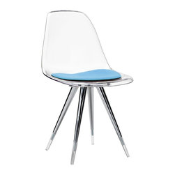 Kubikoff - Angel Side Chair, Ivory, Turquoise - Angel Side Chair