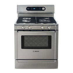"Bosch 30"" Dual Fuel Freestanding Range, Full Stainless 