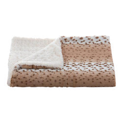 Belle & June - Lux Snow Leopard Throw - Wrapping up in this luxurious throw blanket is like encasing yourself in an Ugg boot. It doesn't get much cozier, or fashion-forward, than this soft blanket around your shoulders or draped over the back of the couch.
