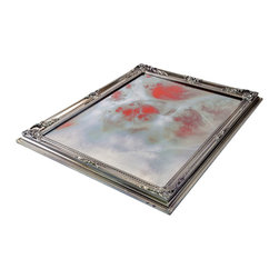 """Art Dallas, Incorporated - Art Dallas Antique Mirror - Red Marble - An Art Dallas handcrafted """"Red Marble"""" Antique Mirror framed with our Flash® molding. The pattern on this one is really amazing."""