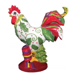 Westland - 9.5 Inch Multi-Colored Festive Christmas Holidays Rooster Figurine - This gorgeous 9.5 Inch Multi-Colored Festive Christmas Holidays Rooster Figurine has the finest details and highest quality you will find anywhere! 9.5 Inch Multi-Colored Festive Christmas Holidays Rooster Figurine is truly remarkable.