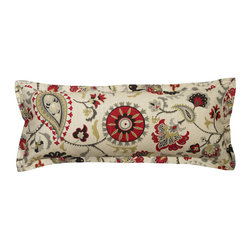 "Mystic Valley - Mystic Valley Traders Park Avenue - Large Boudoir Pillow - The Park Avenue large boudoir pillow is fashioned from the Avalon fabric on each side, and finished with a mitred flange; 12""x30""."