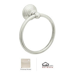 "Rohl - Rohl ROT4PN Polished Nickel Country Bath Country Bath 6"" Towel Ring - Country Bath 6"" Towel RingThe Rohl Country Bath collection matches a relaxed country lifestyle with refined Italian elegance. Inspired by the scenic regions of northern Italy, the Rohl Country Bath collection is also crafted there. This collection is the ideal combination of form and function. Look for a number of different variations within the Rohl Country Bath collection, with popular families like Verona, Alessandria, Hex, and Viaggio. Give your kitchen and bathroom an amazingly stylish update and upgrade with Rohl's Country Bath collection.Rohl ROT4 Features:Metal die cast construction - weight: 1 lb.Superior finishing process – chemical, scratch, and stain resistantTowel ring length: 6-1/4""Towel ring height: 6-1/4""Extra secure mounting assemblyEasy to clean and installAll mounting hardware includedFully covered under Rohl's limited lifetime warrantyManufactured in New Zealand, Western Europe, and/or North AmericaAbout Rohl:Excellence, durability, and beauty. Family values, integrity, and innovation. These are all terms which aptly describe Rohl and its remarkable selection of kitchen and bathroom faucets and fixtures. Since 1983, Rohl has maintained a commitment to providing high-quality plumbing products for residential and commercial applications, while assuring these fixtures would make a difference in the overall décor in the living space. With a dedication to excellence throughout the home, Rohl has been satisfying homes, schools, hospitality venues, and restaurants all around the world. Rohl specializes in providing timeless designs for every type of theme, including traditional, transitional, and modern. When Rohl suggests its products reflect the feel of a certain area outside the United States, it's more than just that. Rohl products are authentically crafted in towns in New Zealand, Western Europe, and North America ."