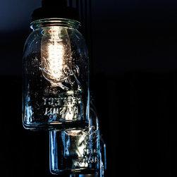 Kitchen island mason jar lights -