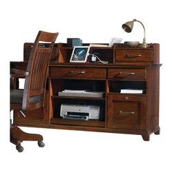 Hooker Furniture - Hooker Furniture Wendover Computer Credenza and Hutch in  Cherry - Hooker Furniture - Computer Desks - 10371136467KIT -
