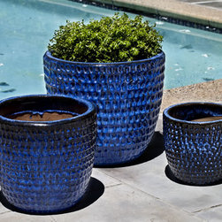 Dimple Planter - Pacifica Glazed Dimple Planter, set of 3