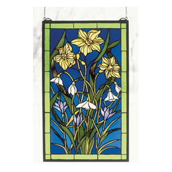 Meyda - 15 Inch Wx25 Inch H Spring Bouquet Window Windows - Color Theme: Vach (Dk) Ia Ca Iac