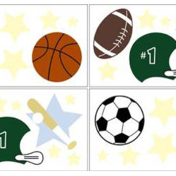 Play Ball Wall Decal Set of 4 Sheets