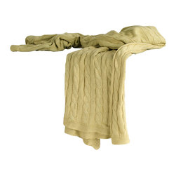 """Rizzy Home - Transitional Sage Throw (50"""" x 60"""") - Add a cozy layer of warmth to any bed or sofa with this lovely throw."""