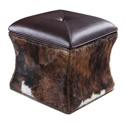 Hooker - Hooker Furniture La Rabida Ranch Lid leather Ottoman - Developed by one of America's premier manufacturers to offer quality furniture at affordable prices. Each piece is meticulously hand-crafted using the most exquisite leathers in the world. The La Rabida Ranch Lid Ottoman Crafted using La Rabida Ranch(Top, Brown) leather.