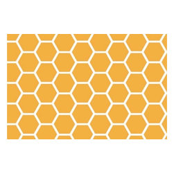 "SheetWorld - SheetWorld Fitted Pack N Play (Graco Square Playard) Sheet - This beautiful 100% cotton ""woven"" square playard sheet features a mustard yellow and white honeycomb print. Size of each comb is about 1 inch. Our sheets are made of the highest quality fabric which are soft and durable. They have deep pockets and are elasticized around the entire edge which prevents it from slipping off the mattress, thereby keeping your baby safe. These sheets are so durable that they will last all through your baby's growing years. We're called SheetWorld because we produce the highest grade sheets on the market. Size: 36 x 36. Not a Graco product. Sheet is sized to fit the Graco square playard. Graco is a registered trademark of Graco."