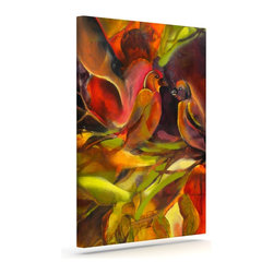 """Kess InHouse - Kristin Humphrey """"Mirrored in Nature"""" Wrapped Art Canvas (8"""" x 10"""") - Bring your outdoor patio to life with this artistic outdoor canvas wrap featuring gorgeous artwork by KESS InHouse. These canvases are not only easy to hang and remove but also are the perfect addition to your patio collection. These canvases are stretched around a wooden frame and are built to withstand the elements and still look artistically fabulous. Decorating your patio and walls with these prints will add the splash of art and color that is needed to bring your patio collection together! With so many size options and artwork to choose from, there is no way to go wrong with these KESS Canvas Wraps!"""