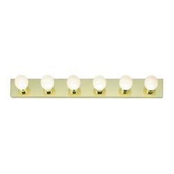 "Nuvo Lighting - Nuvo Lighting 77/190 Six Light 36"" Bathroom Bar Light, in Polished Brass Finish - Nuvo Lighting 77/190 Six Light 36"" Bathroom Bar Light, in Polished Brass FinishNuvo Lighting 77/190 Features:"