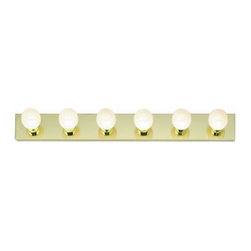 "Nuvo Lighting - Nuvo Lighting 77/190 Six Light 36"" Bathroom Bar Light, in Polished Brass Finish - Nuvo Lighting 77/190 Six Light 36"" Bathroom Bar Light, in Polished Brass FinishNuvo Lighting 77/190 Features:"