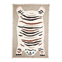 Handmade Wool Rug, Otis - This playful rug would be the star of the show in an equally playful nursery. On the other hand, at this price point, perhaps it would be better suited as large-scale wall art. In either case, it'd surely make me smile.