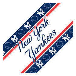 Sports Coverage - MLB New York Yankees Self Stick Wall Border Accent Roll - Features: