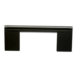 Top Knobs - Flat Black Bar Pulls, 3 in. - Top Knobs item number M1054 is a beautifully finished Flat Black Bar Pull.