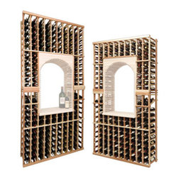 Wine Cellar Innovations - Vintner Series - Individual Bottle Wine Rack Kit with Display Row - The Vintner Series individual bottle wine rack kit with display row option is sold to be compatible with the Vintner Archway & Table Top option, or the Vintner Glass Rack and Table Top Option. This wine racking module consists of all the above and below individual wine bottle racking for the unit as pictured. Please note that there is only an 8 Ft & a 7 Ft Option available for this unit. The 8 Ft Option is compatible with stacking double 4 Ft Options, and the 7 Ft Option is compatible with stacking 4Ft Options on the bottom, and 3Ft Options above. Archway & Table Top, & Glass Rack and Table Top kits sold separately. Moldings and platforms sold separately. Assembly required.