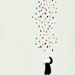 Monsieur Under the Rain Print by Blanca Gómez - This is such a charming little print. I love everything in the Monsieur Collection, but this is one of my favorites. It's also just sweet enough for a child's room — you can never start their art collections too early.