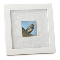 Shore 3x3 Frame - Wide, textured mats and solid wood frames square up favorite photos in room-freshening white.