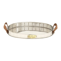 Multi-Purpose Stainless Steel Polyurethane Leather Tray - Description: