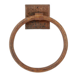 "10"" Copper Full Size Bath Towel Ring"