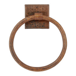 "Premier Copper Products - 10"" Copper Full Size Bath Towel Ring - This Premier 10"" Hand Hammered Full Size Copper Towel Ring will bring style and beauty to any bathroom in your home."