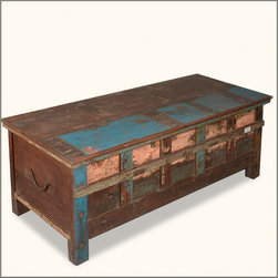 Distressed Antique Reclaimed Wood Rustic Steamer Storage Trunk Chest - The old chest in the attic was always filled with hidden surprises. Our Distressed Antique Reclaimed Wood Rustic Steamer Storage Trunk Chest brings home that nostalgic charm with an authentic antique quality.