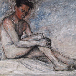Rod Judkins, Portrait of Nude Young Man 3, Pastel Drawing - Artist:  Rod Judkins, British (1956 - )