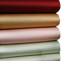 Luxor Linens - Carmela Sateen Luxury Sheets, Twin, White - Slip into silky comfort between these sumptuous sateen sheets. Crafted from Egyptian cotton in rich colors with a thread count of 510, they're as luxurious as they come. Who says life can't be a bed of roses?