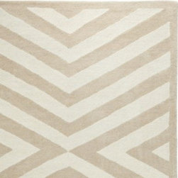Serena & Lily - Oatmeal Charing Cross Rug - Taking a bit of creative liberty, we updated a traditional chevron print to give the lines of this plush wool rug a modern rhythm and directionality. A great way to introduce pattern without overwhelming the room.
