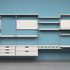 Modern Wall Shelves Vitsœ 606 Shelving System by Dieter Rams