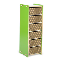 Quark Enterprises - 6 Drawer Organizer, Green and White - This could be great in a home office. Your kids' craft supplies could coexist alongside your office essentials, and each family member could have their own drawer.