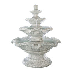 Quattro Classic Tier Fountain, Tuscan Sienna - *Please Note: Our color chart is for example purposes only. Monitor settings and how the finish is applied to these outdoor water fountains can vary to what is shown in the color chart.  Actual stone samples of each finish can be purchased to help you make your finish choice.
