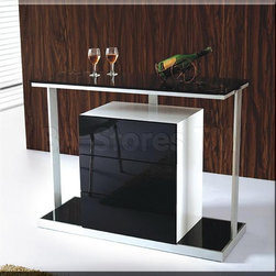 Black and White Lacquer Bar - VIG Furniture - The Black and White Lacquer Bar - VIG Furniture is a unique designed bar, which is made of black and white lacquer. Low profile and three supports make this modern bar a great to your dining area.