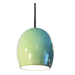 Hammers & Heels - Clay Celadon Ceramic Pendant Light - The Celadon Clay Pendant Light brings texture to any room!