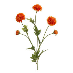 Silk Plants Direct - Silk Plants Direct Pompon Mum (Pack of 12) - Orange - Silk Plants Direct specializes in manufacturing, design and supply of the most life-like, premium quality artificial plants, trees, flowers, arrangements, topiaries and containers for home, office and commercial use. Our Pompon Mum includes the following: