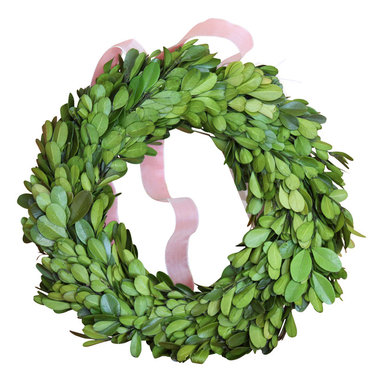 Zodax - Boxwood Topiary Wreath - A great way to add a splash of green to any space year-round, this preserved boxwood wreath can enhance any décor  with its cultivated charm!