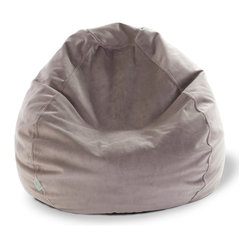 Majestic Home - Indoor Steel Faux Suede Small Bean Bag - You've got style in the bag — the beanbag, that is. Thanks to this faux suede upgrade, the hippie pad staple looks and feels oh-so-sophisticated. Bonus: The slip zips off for cleaning in a snap.