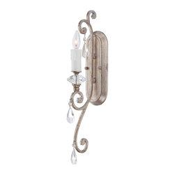 Quoizel Lighting - Quoizel TCA8701VP Tricia Vintage Silver Wall Sconce - 1, 60W B10 Candelabra