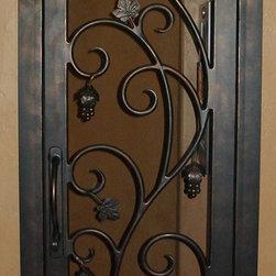 Wine Cellar Door - Custom handmade Single Wrought Iron Wine Cellar Door by San Marcos Iron Doors.