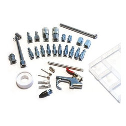 Primefit 30 Piece Air Accessory Kit with Storage Case - No professional or family garage should be without the Primefit 30 Piece Air Accessory Kit with Storage Case. This easy-to-organize, clear storage case is packed with all the most commonly used air compressor accessories, many of which are crafted from solid steel with zinc plating that's 100% corrosion resistant. Essentials like a blow gun with 5 different nozzle attachments, 2 quick-connect couplers, 11 quick-connect plugs, fittings, tape, and a variety of other important tools are all included.About PrimefitPrimefit has been providing quality pneumatic tools, air hoses, and air accessories since 1976 and is viewed today as one of the leading global manufacturers in their field. Based out of Elkhart, Indiana, this American company serves the consumer, automotive, commercial, and jobsite markets with a wide range of products that include everything from couplers, plugs, splitters, manifolds, fittings, and more. Chances are good that you've already used Primefit equipment in your day-to-day life and many of the luxuries you depend on would not have been possible without the countless brands that utilize Primefit's high quality construction and innovative designs.