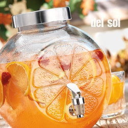 Del Sol Lemon Shape Cold Beverage Dispenser, 1.25 Gal, Kitchen Accessory - Entertaining and serving your guests is so easy and enjoyable with our lemon shape beverage dispenser.