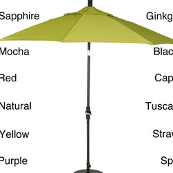 Phat Tommy - Phat Tommy 11-foot Pacifica Fabric Aluminum Umbrella - Made of canvas grade polyester fabric, this Phat Tommy Pacifica umbrella will give you years of use. This umbrella features a crank lift and collar tilt system for easy adjustment.